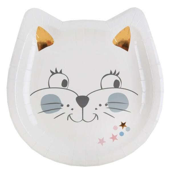 Assiette anniversaire enfant chaton