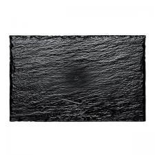 Assiette façon ardoise noire 22cm (x10) REF/56036