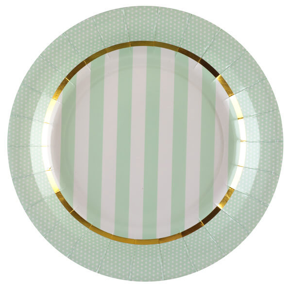 Assiette baby shower verte