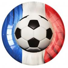 Assiette football: France tricolore (x10) REF/5865