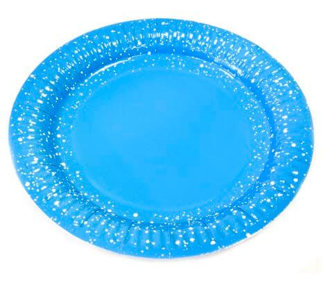 Assiette bleu turquoise 18cm