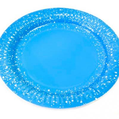 Assiette bleu turquoise, 18cm (x6) REF/JET001A/PM