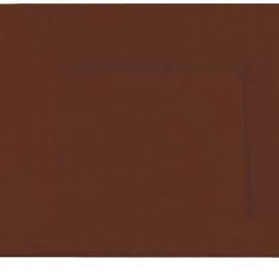 Assiette plastique carrée 23cm chocolat (x8) REF/2325