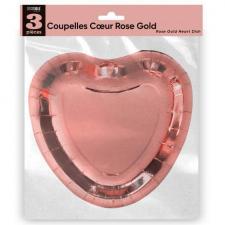 Assiette coupelle mariage coeur rose gold