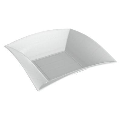 Assiette creuse blanche BIO 18cm (x50) REF/78057