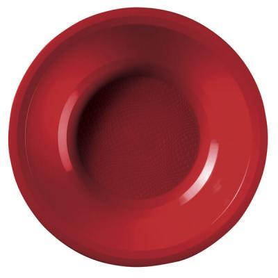 Assiette creuse incassable 19.5cm rouge (x10) REF/52757