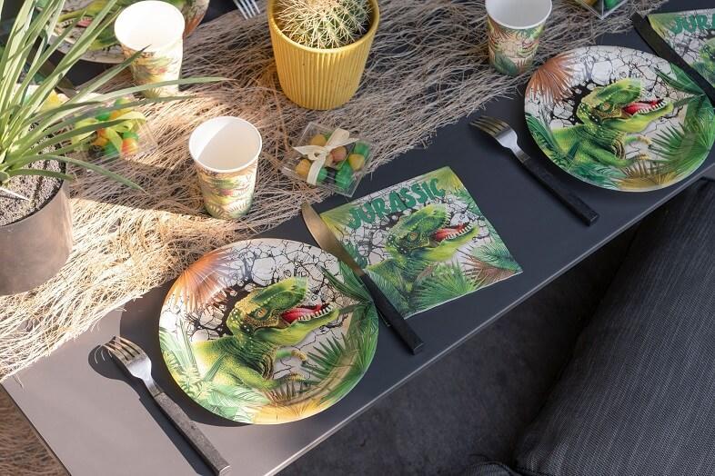Assiette de table anniversaire dinosaure