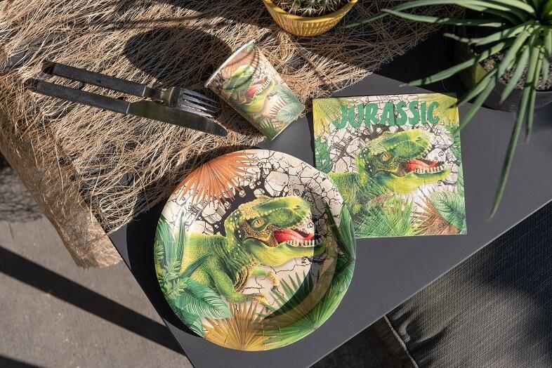 Assiette de table dinosaure