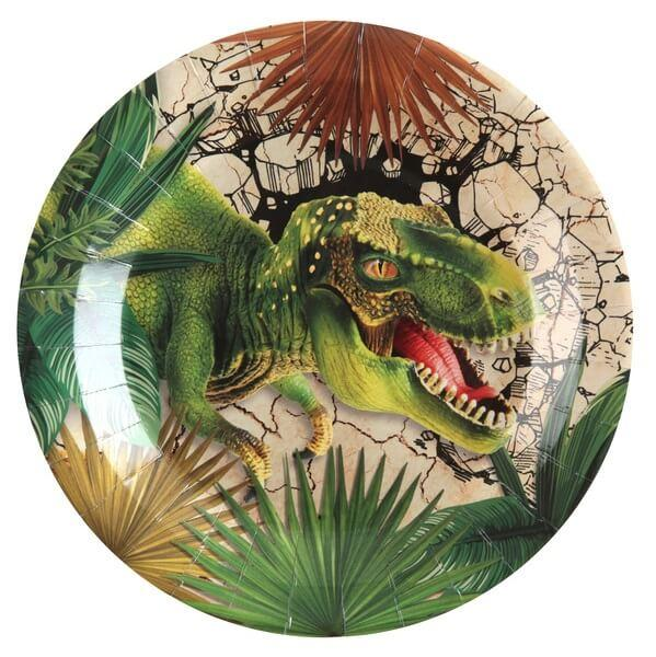 Assiette en carton dinosaure jurassic