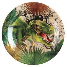 Assiette en carton Dinosaure Jurassic (x10) REF/7285