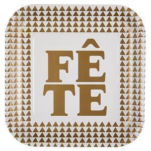 Assiette fête or (x10) REF/5033