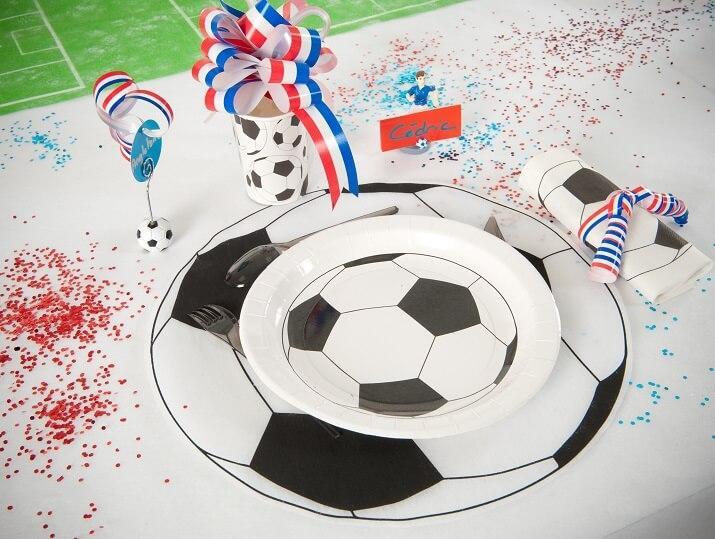 Assiette football en carton jetable