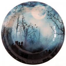 Assiette Halloween: Hanté (x10) REF/5597
