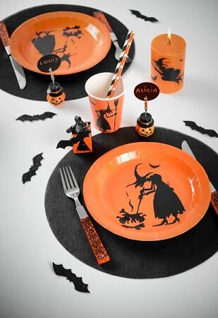 Assiette halloween sorciere 1
