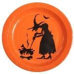 Assiette Halloween sorcière (x10) REF/4232