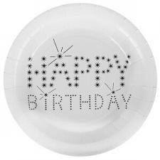 Assiette happy birthday (x10) REF/4900