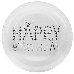 Assiette happy birthday (x10) REF/4900