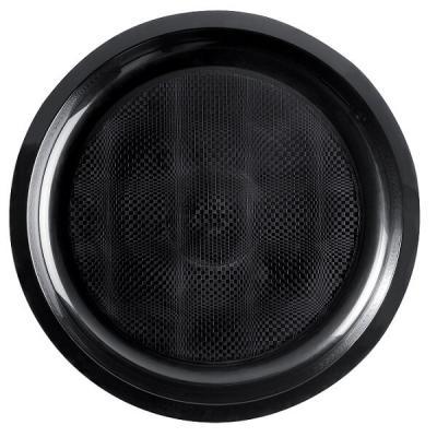 Assiette plate et ronde noire incassable 22cm (x10) REF/52750