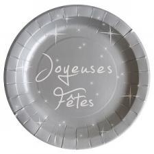 Assiette joyeuses fêtes (x10) REF/4499