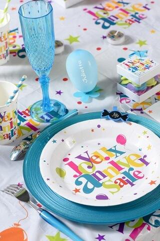 Assiette joyeux anniversaire 6