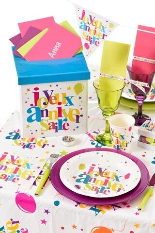 Assiette joyeux anniversaire 7
