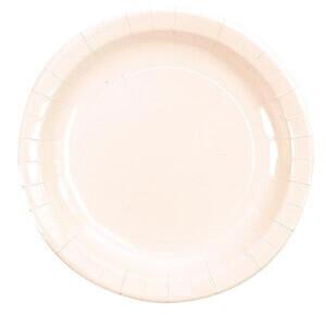 Assiette laquee blanc