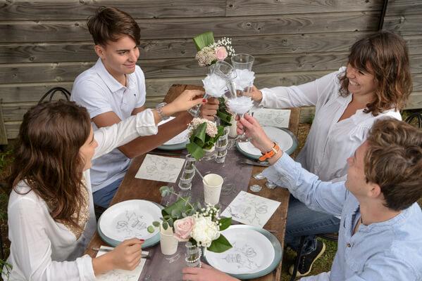 Assiette mariage 3