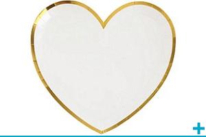 Assiette mariage et st valentin