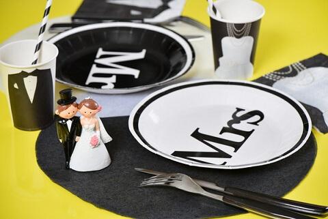 Assiette mariage mrs et mr