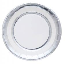 Assiette métallisée argent (x10) REF/5903