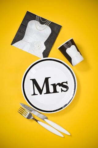 Assiette mr et mrs 2