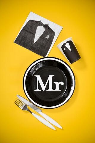 Assiette mr et mrs 3