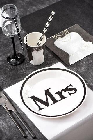 Assiette mr et mrs