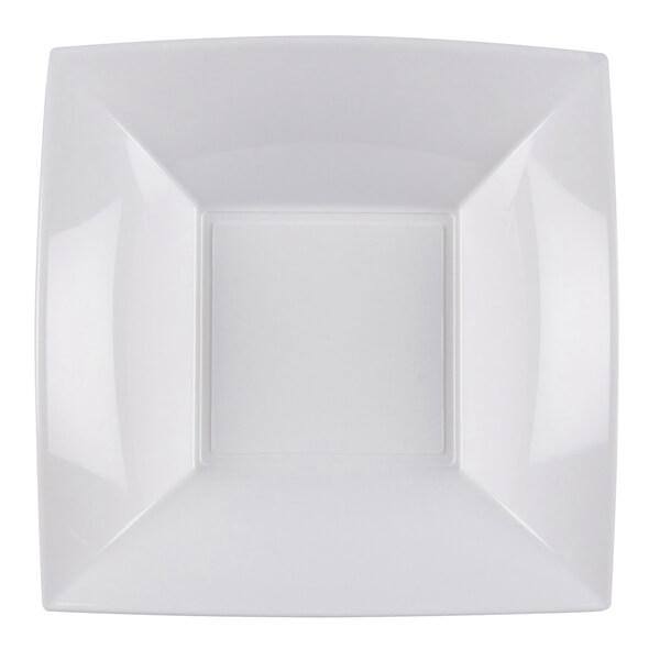 Assiette plastique creuse 18cm blanche