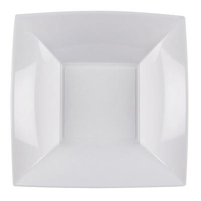 Assiette creuse blanche incassable 18cm (x8) REF/58057