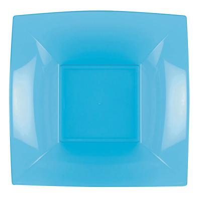 Assiette creuse bleu turquoise incassable 18cm (x8) REF/58057
