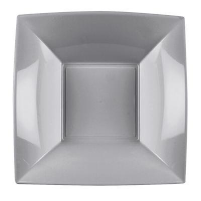Assiette creuse grise incassable 18cm (x8) REF/58057
