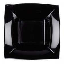 Assiette creuse noire incassable 18cm (x8) REF/58057