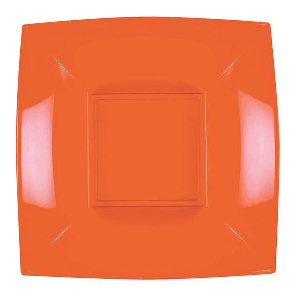 Assiette plastique creuse 18cm orange