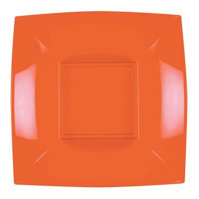 Assiette creuse orange incassable 18cm (x8) REF/58057