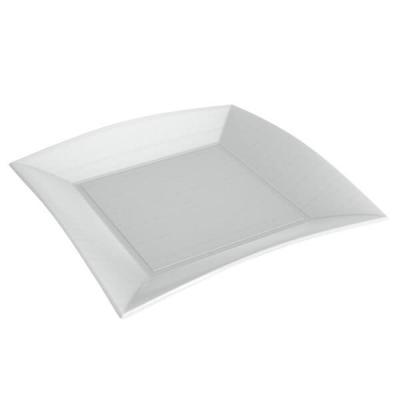 Assiette plate blanche BIO 23cm (x50) REF/78050