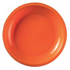 Assiette plate et ronde orange incassable 22cm (x10) REF/52750