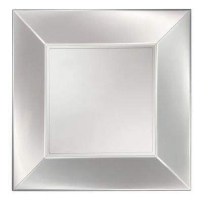 Assiette plate blanc perlé incassable 23cm (x8) REF/58050