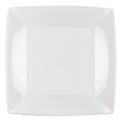 Assiette plate blanche incassable 23cm (x8) REF/58050