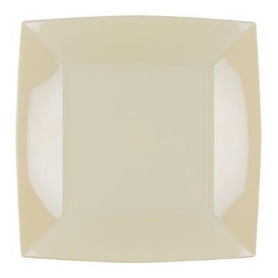 Assiette plate ivoire incassable 23cm (x8) REF/58050