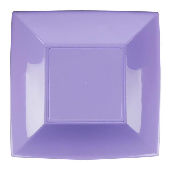 Assiette plate plastique 23cm lilas