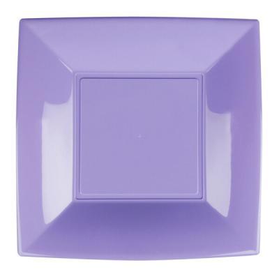 Assiette plate lilas incassable 23cm (x8) REF/58050