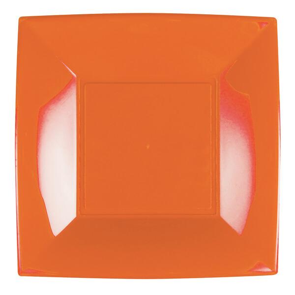 Assiette plate plastique 23cm orange