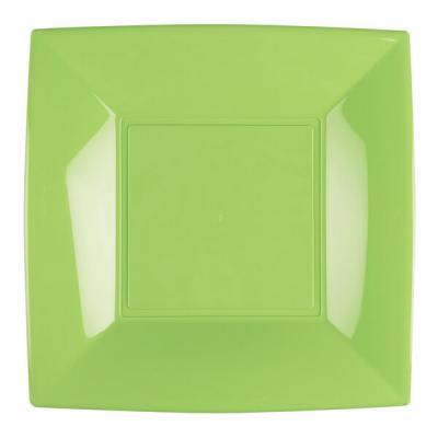 Assiette plate vert anis incassable 23cm (x8) REF/58050