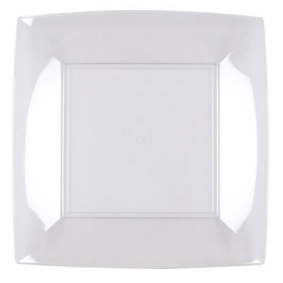 Assiette plate transparente incassable 23cm (x8) REF/57050